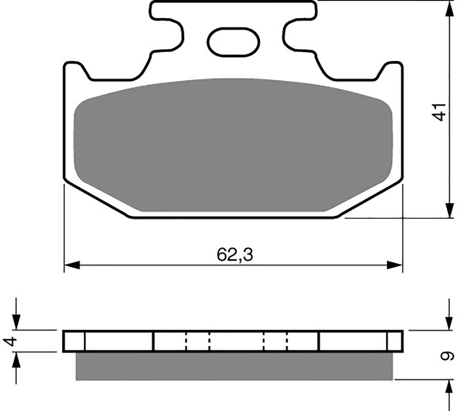 goldfren ad brake pads - 700001GA image