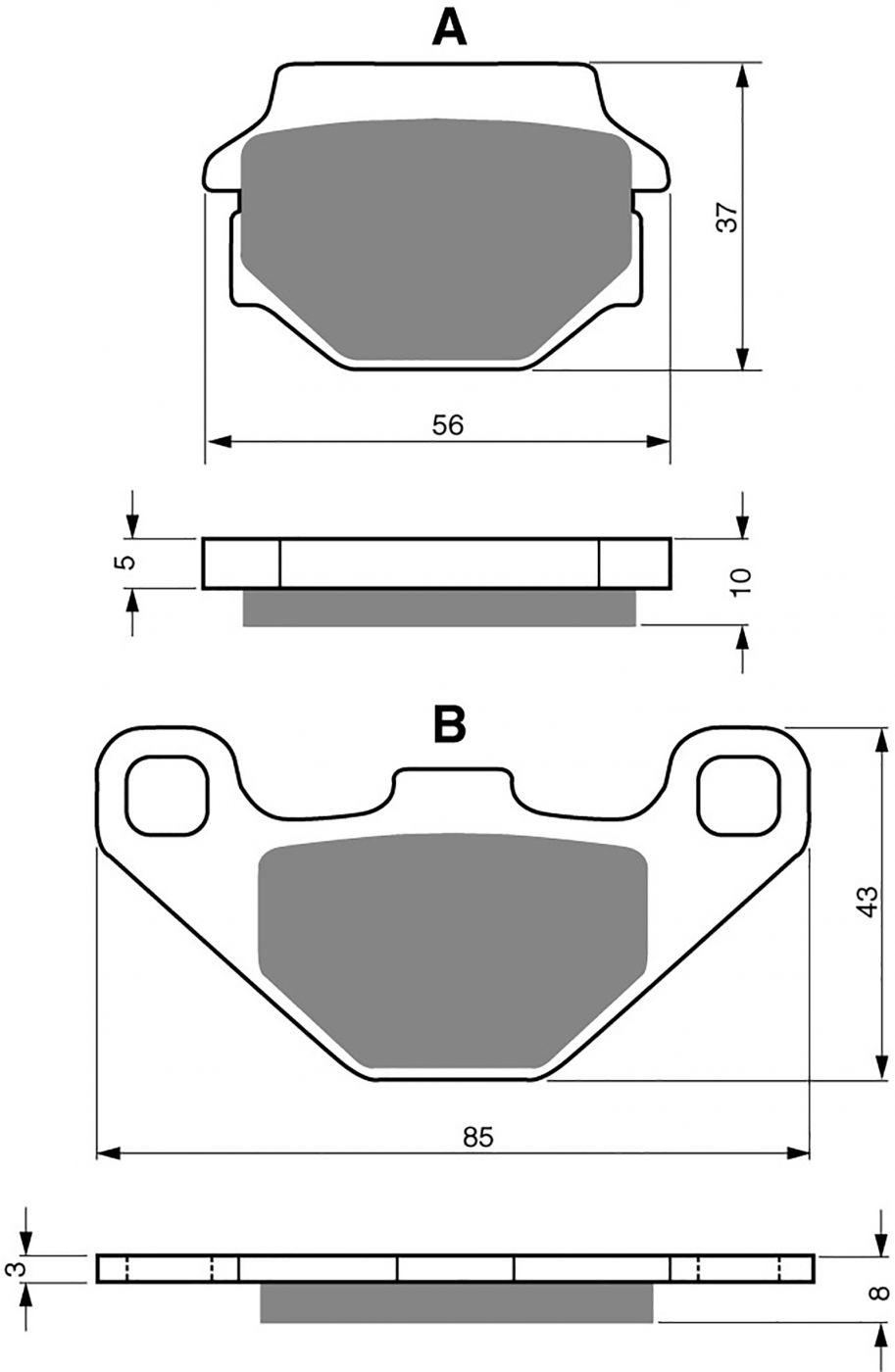 goldfren ad brake pads - 700005GA image