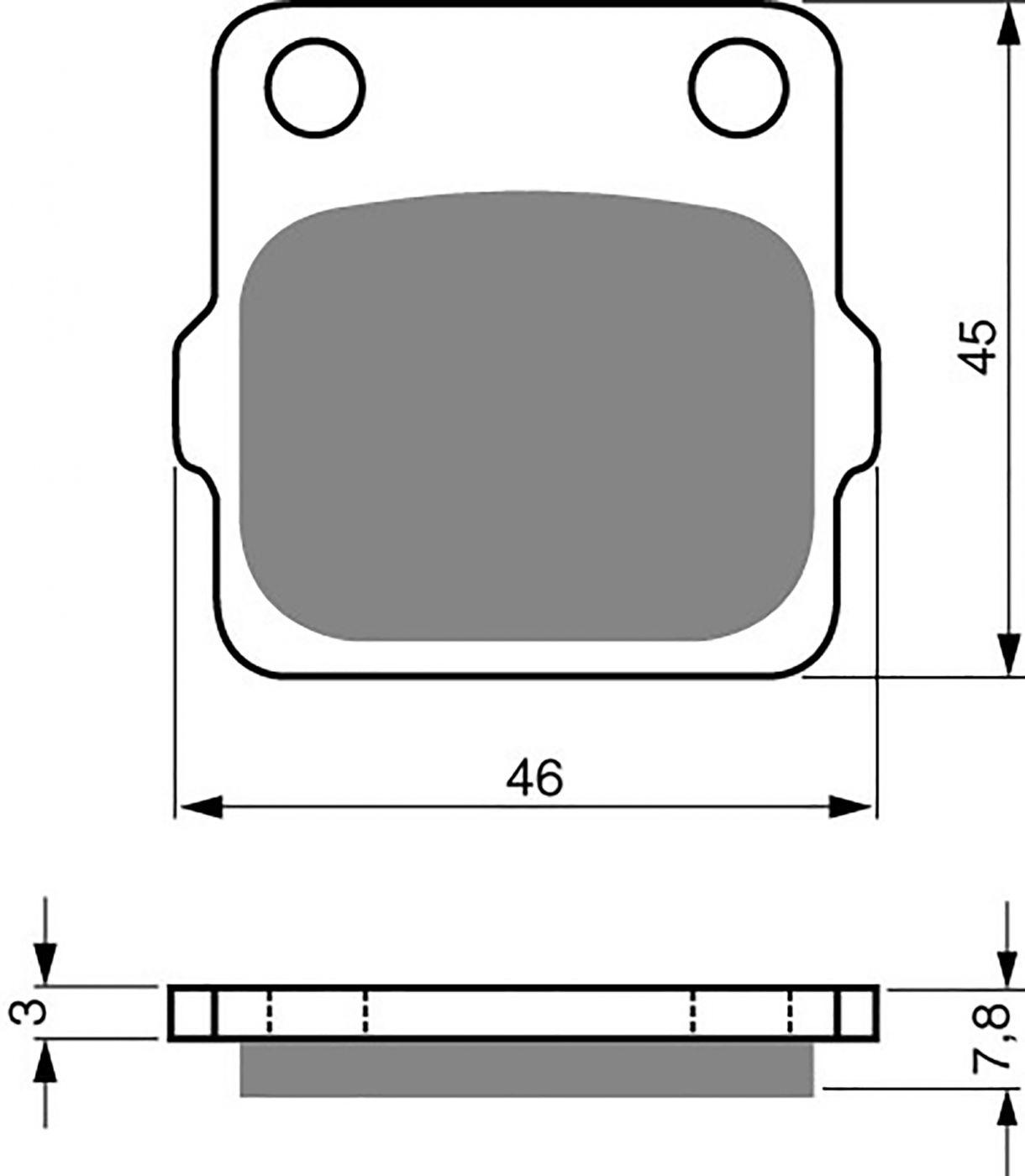 goldfren s33 brake pads - 700007GS image