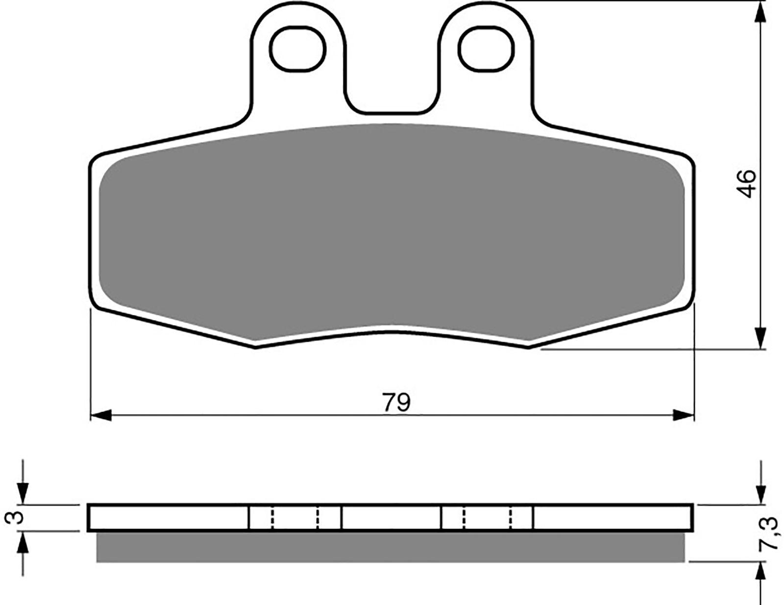 goldfren ad brake pads - 700010GA image