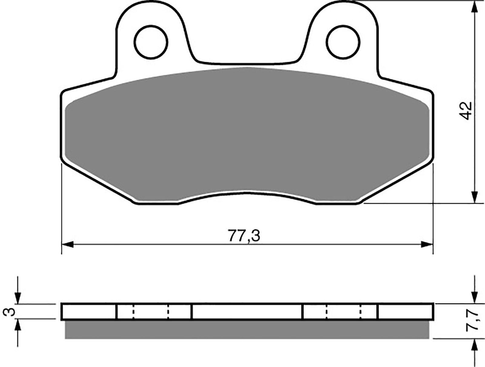 goldfren ad brake pads - 700011GA image
