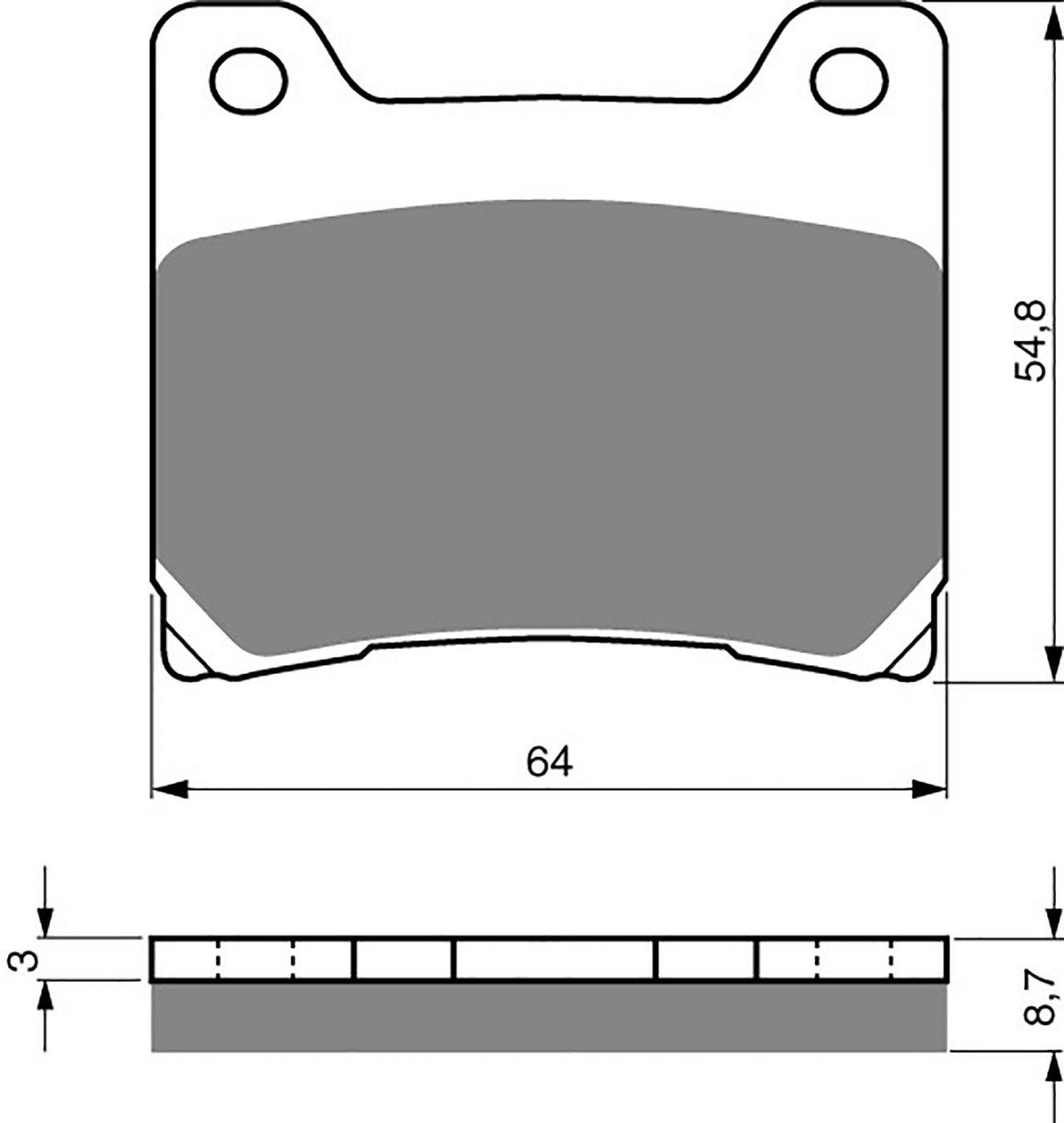goldfren ad brake pads - 700015GA image