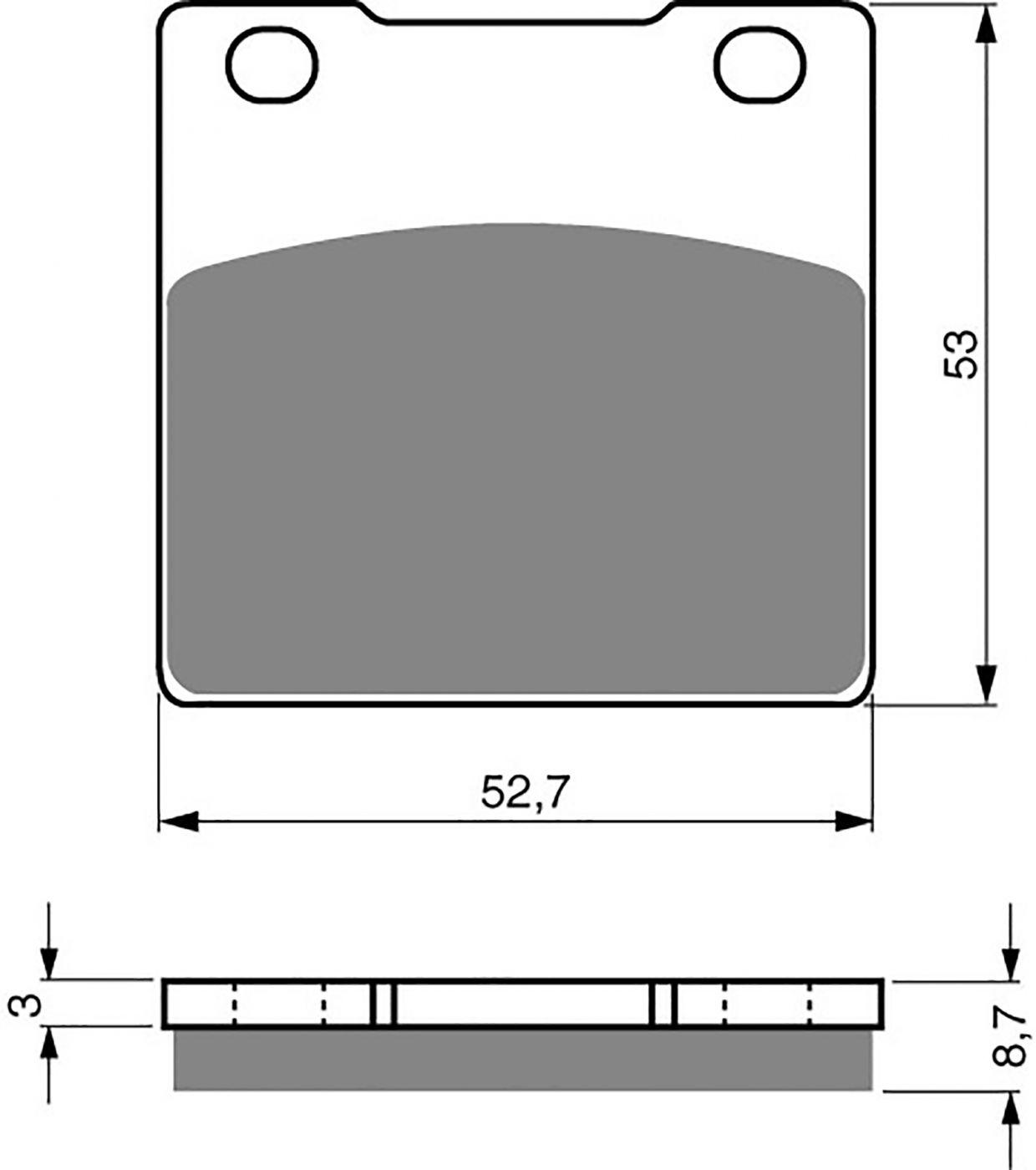 goldfren ad brake pads - 700016GA image