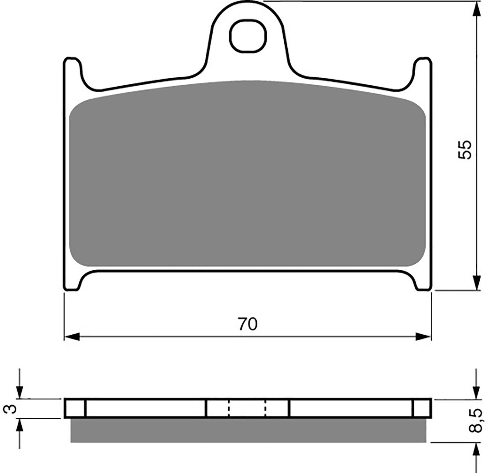 Goldfren S33 Brake Pads - 700017GS image