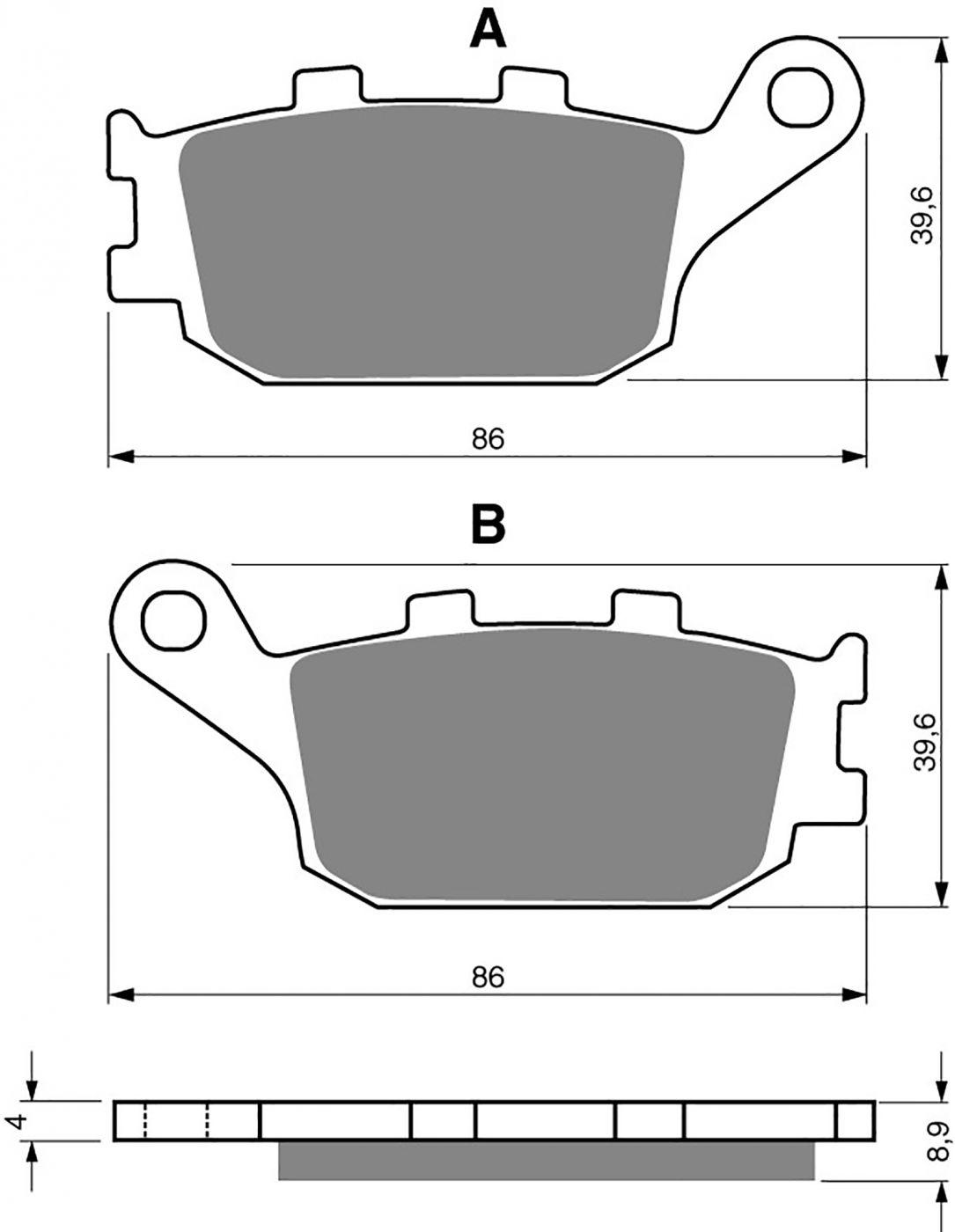 goldfren ad brake pads - 700021GA image