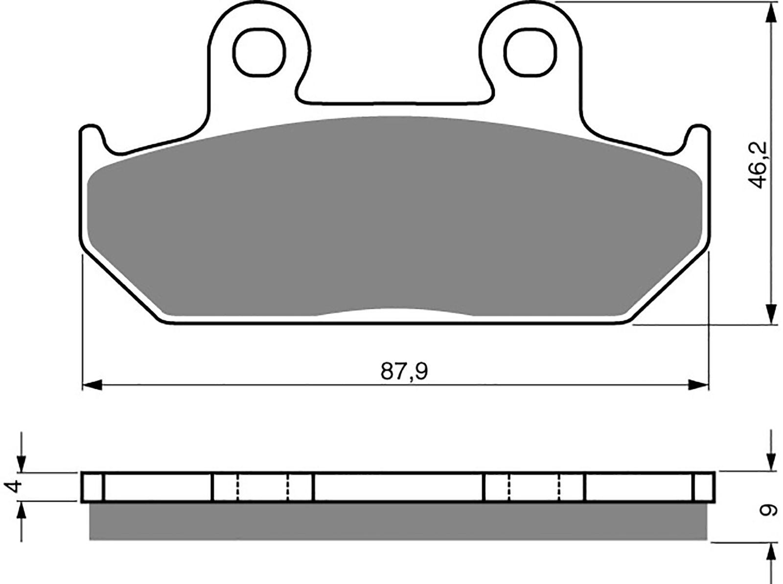 goldfren ad brake pads - 700024GA image