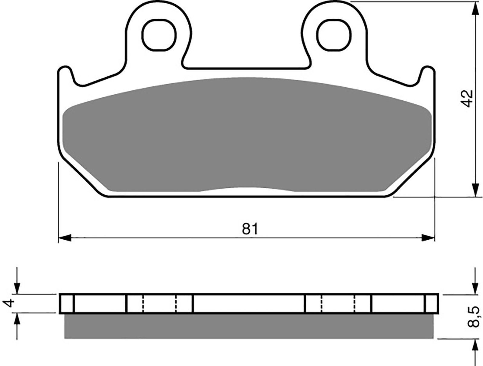 goldfren ad brake pads - 700025GA image
