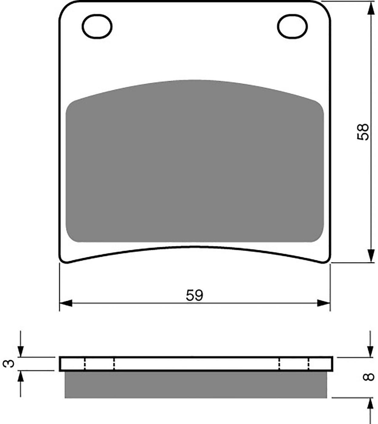 goldfren s33 brake pads - 700027GS image