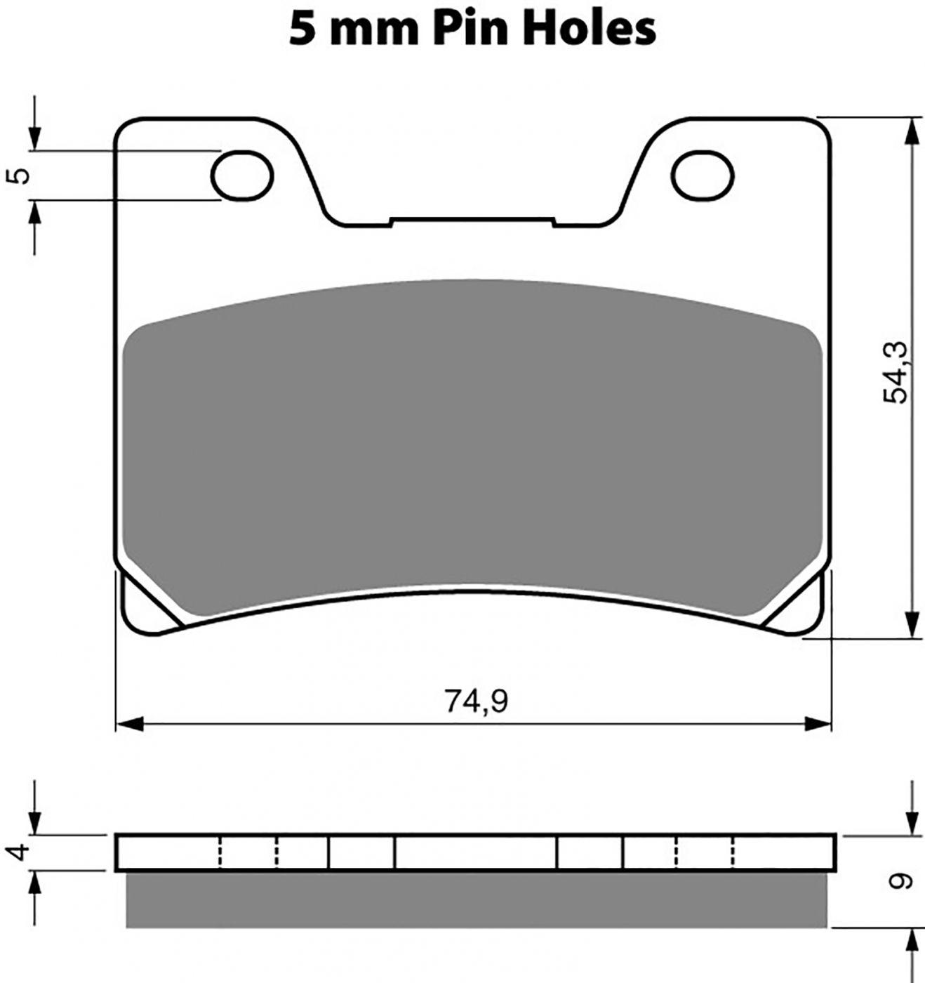 goldfren ad brake pads - 700028GA image