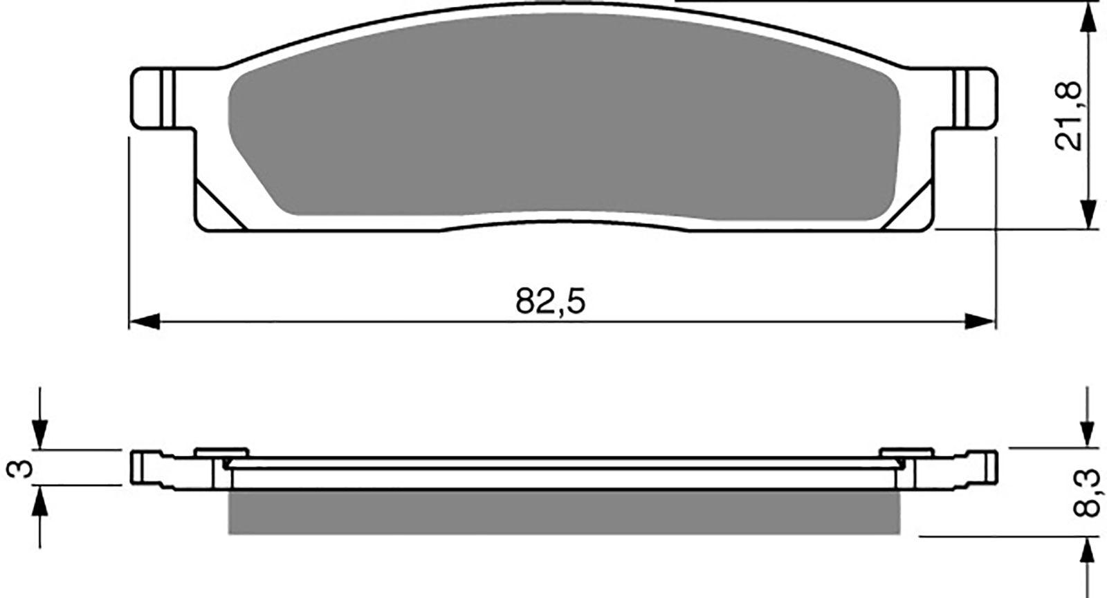 Goldfren S33 Brake Pads - 700034GS image