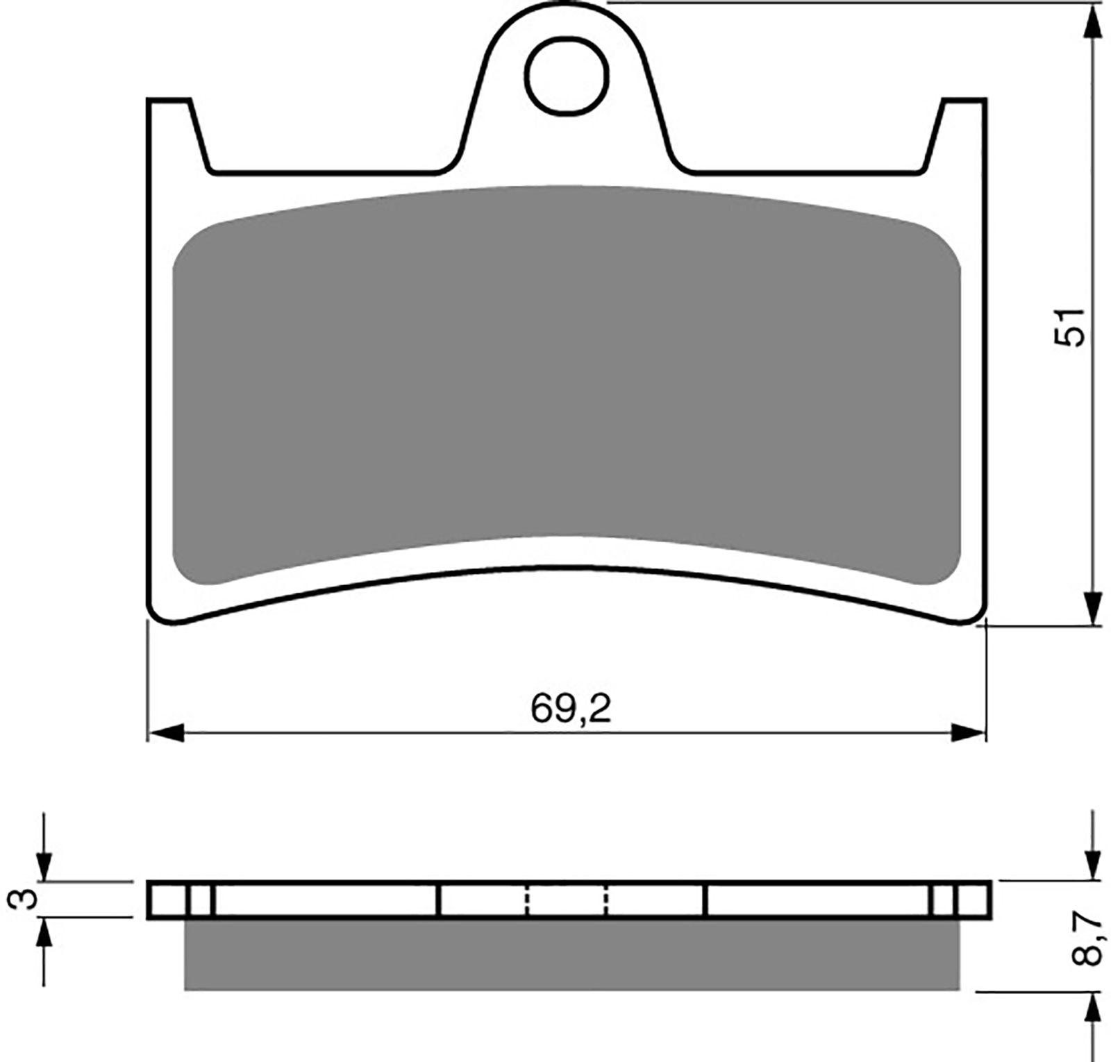 Goldfren Gp5 Brake Pads - 700070GG image