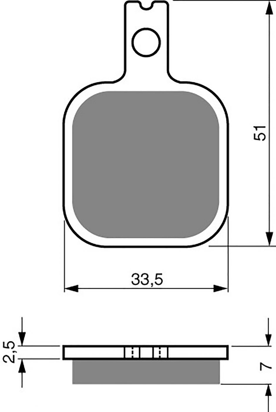 Goldfren Gp5 Brake Pads - 700119GG image