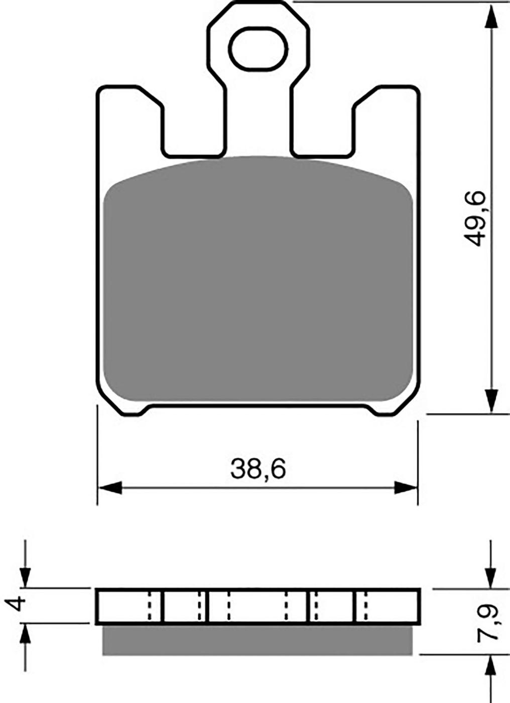 Goldfren Gp5 Brake Pads - 700200GG image