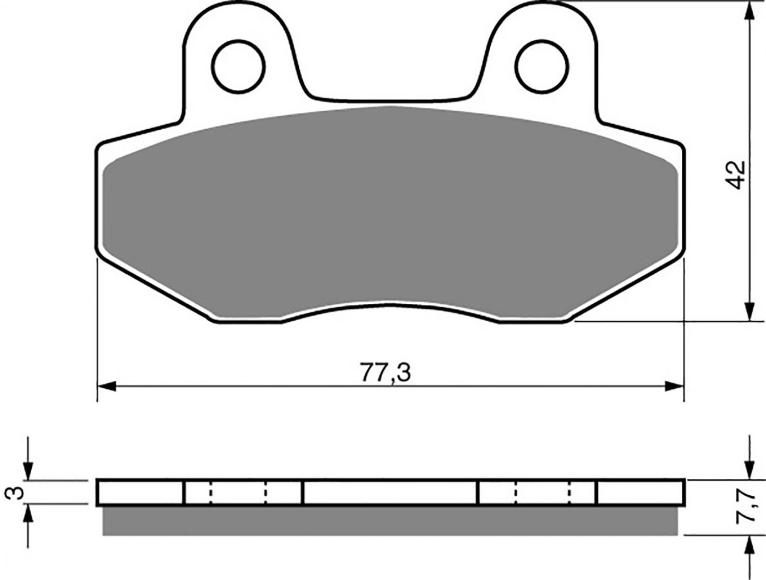 Goldfren S33 Brake Pads - 700011GS image