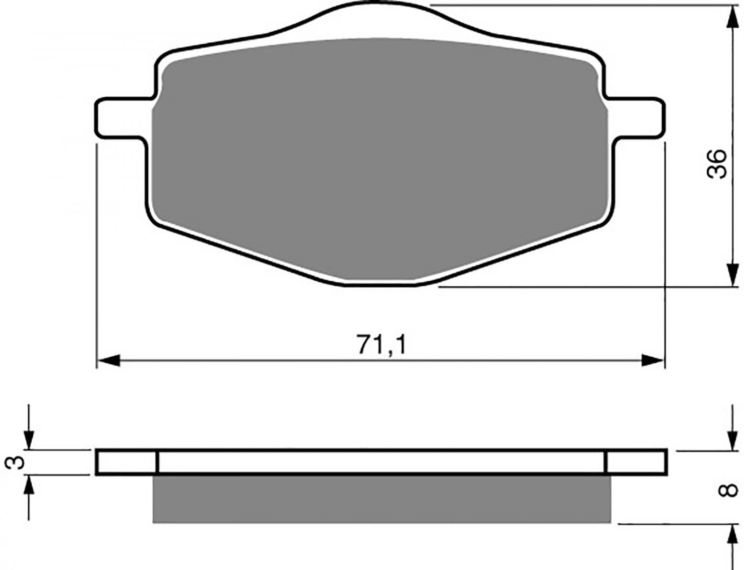 Goldfren S33 Brake Pads - 700018GS image