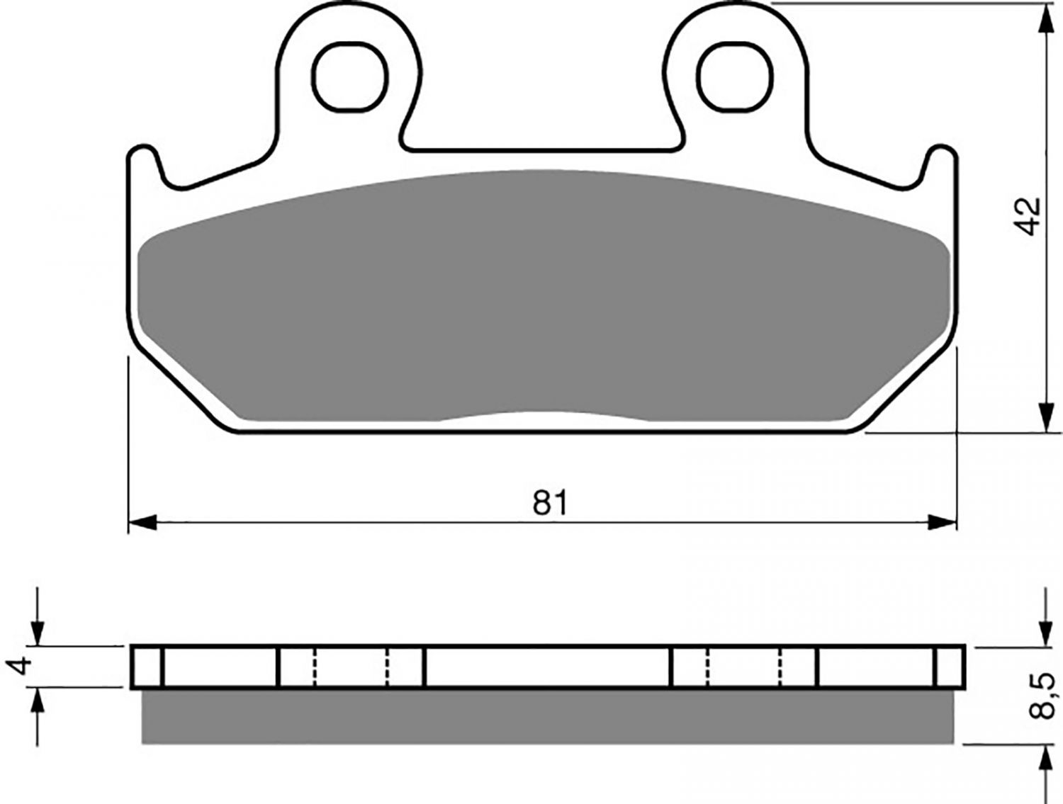 Goldfren S33 Brake Pads - 700025GS image