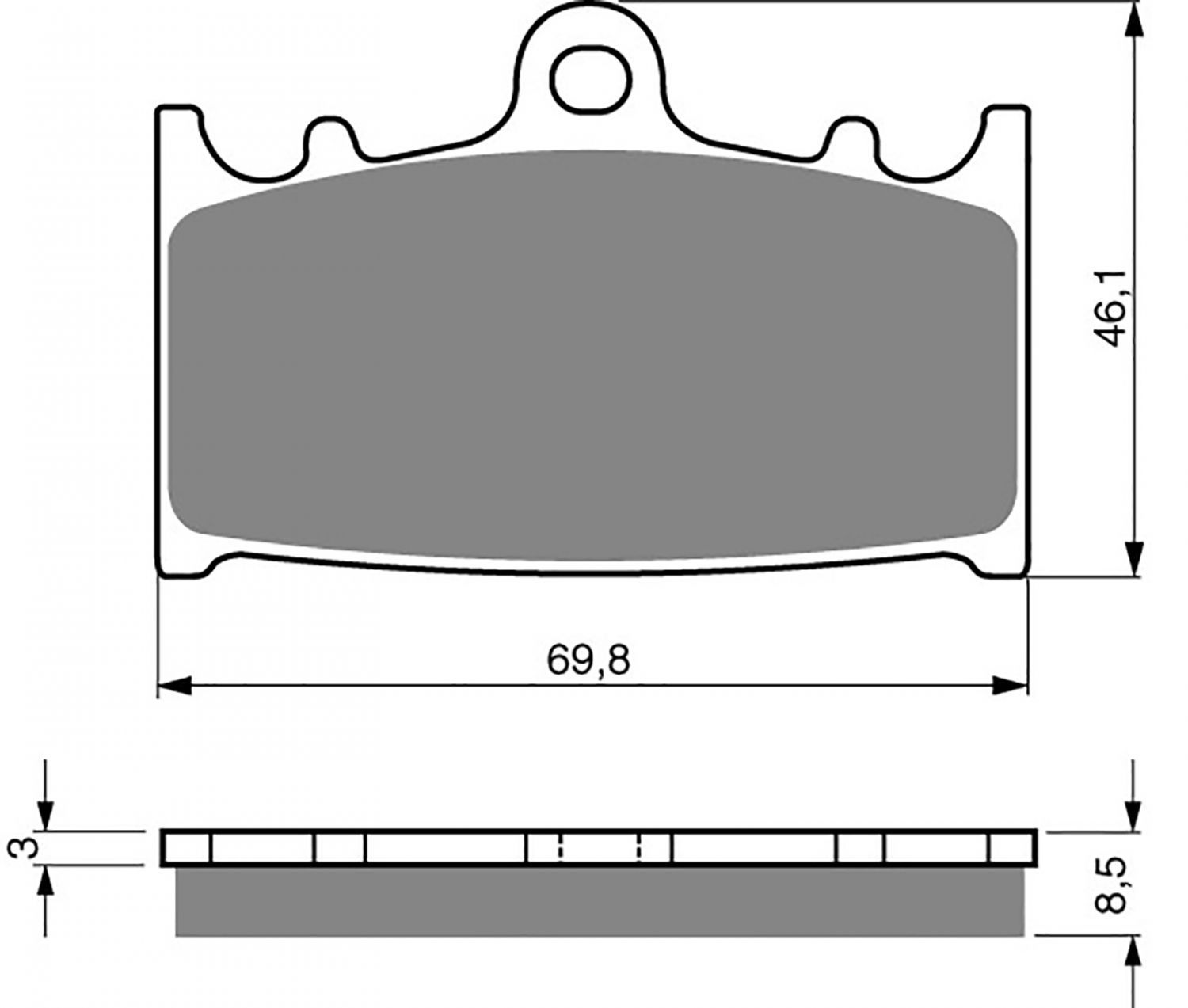 Goldfren S33 Brake Pads - 700032GS image