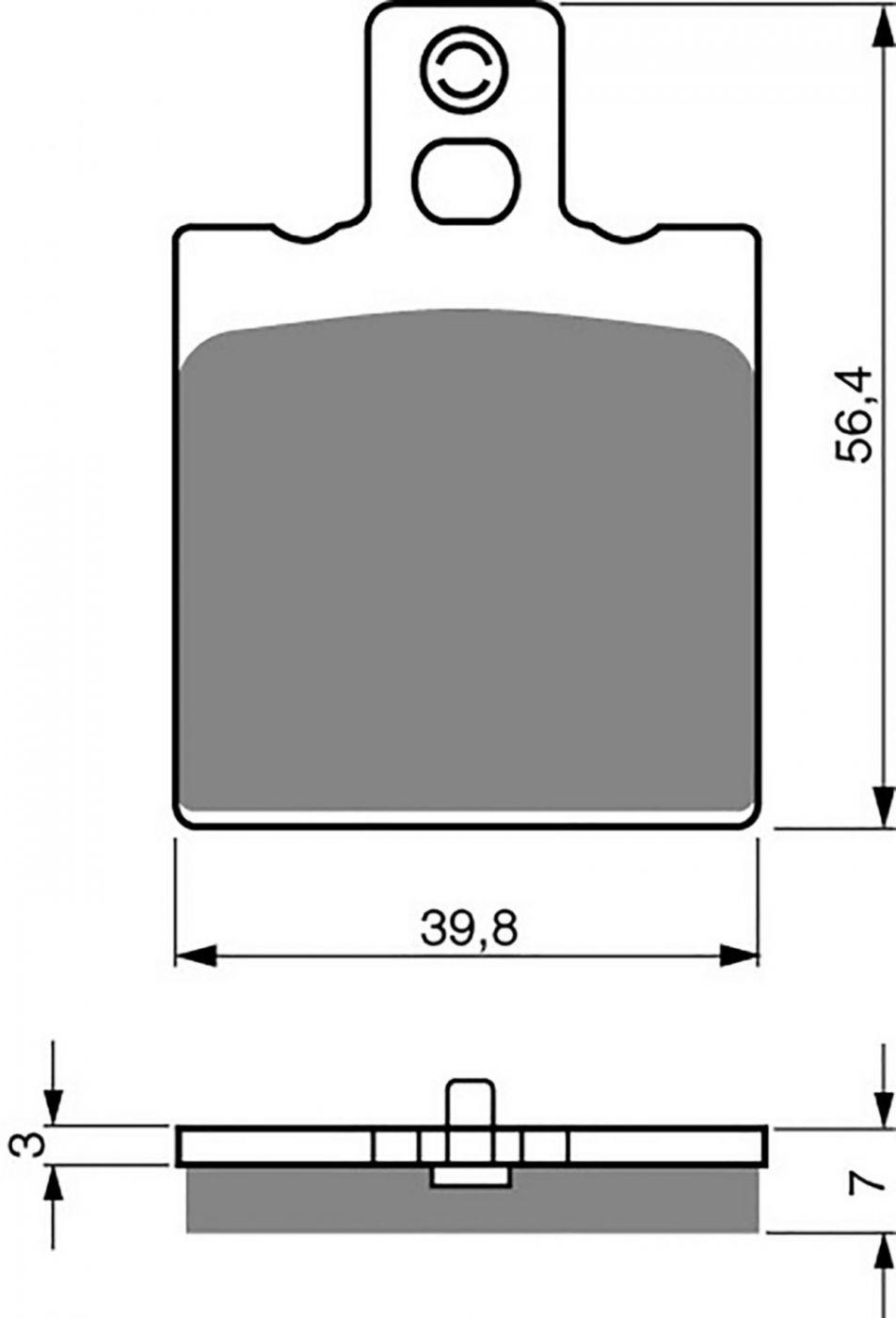 Goldfren GP5 Brake Pads - 700038GG image