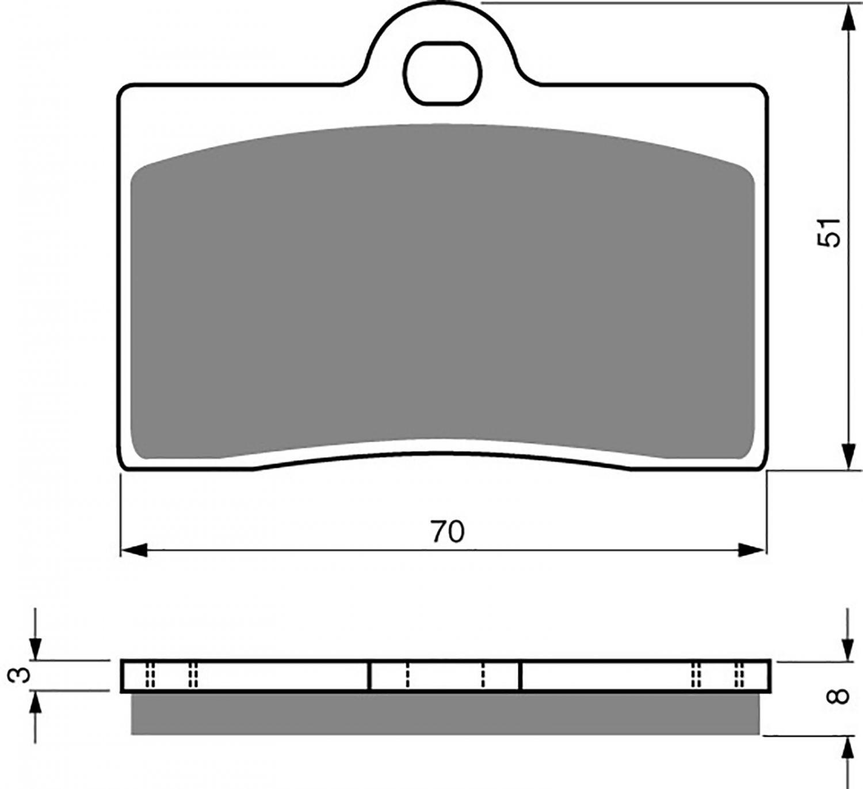 Goldfren GP5 Brake Pads - 700064GG image