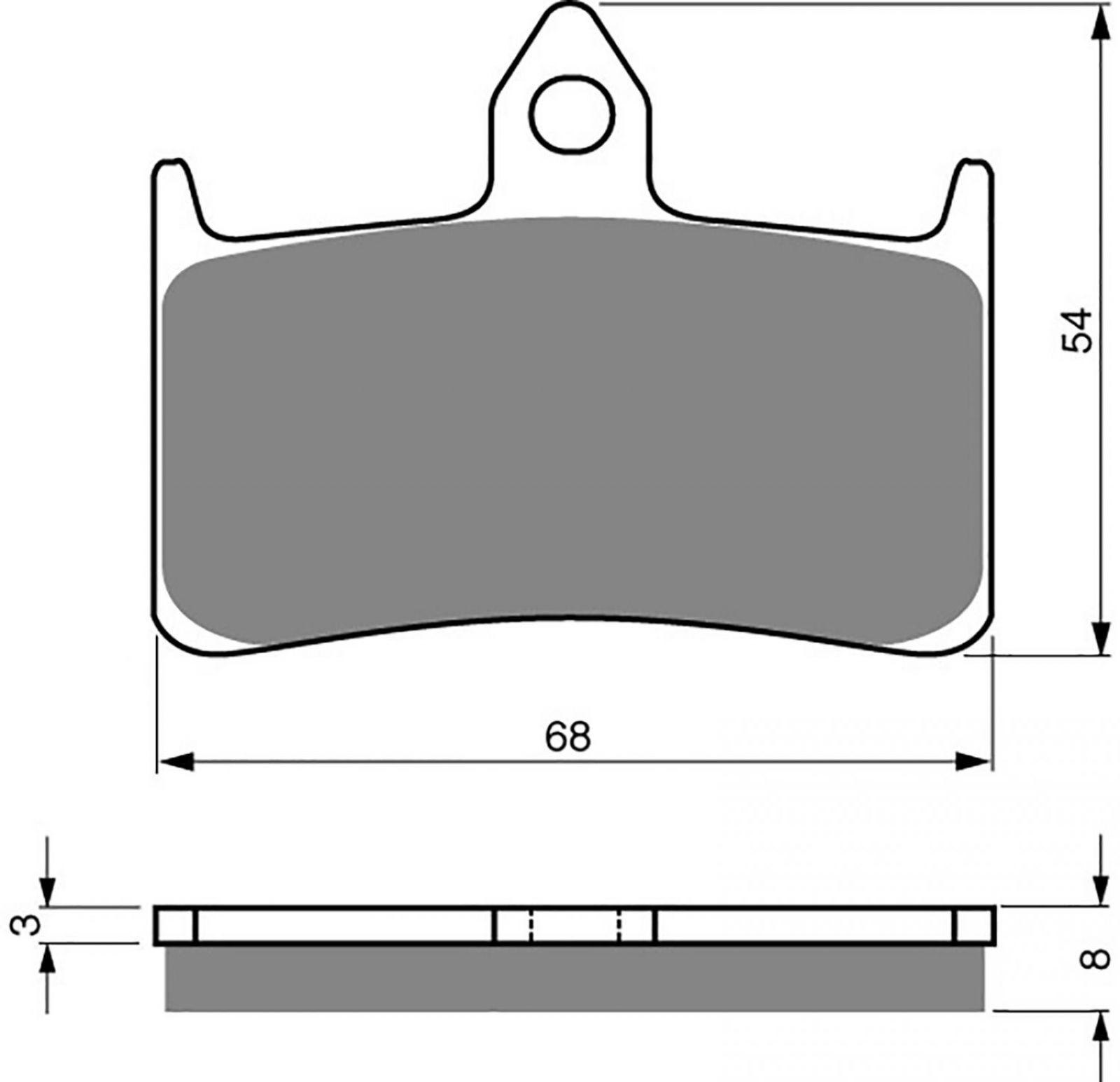 Goldfren GP5 Brake Pads - 700069GG image