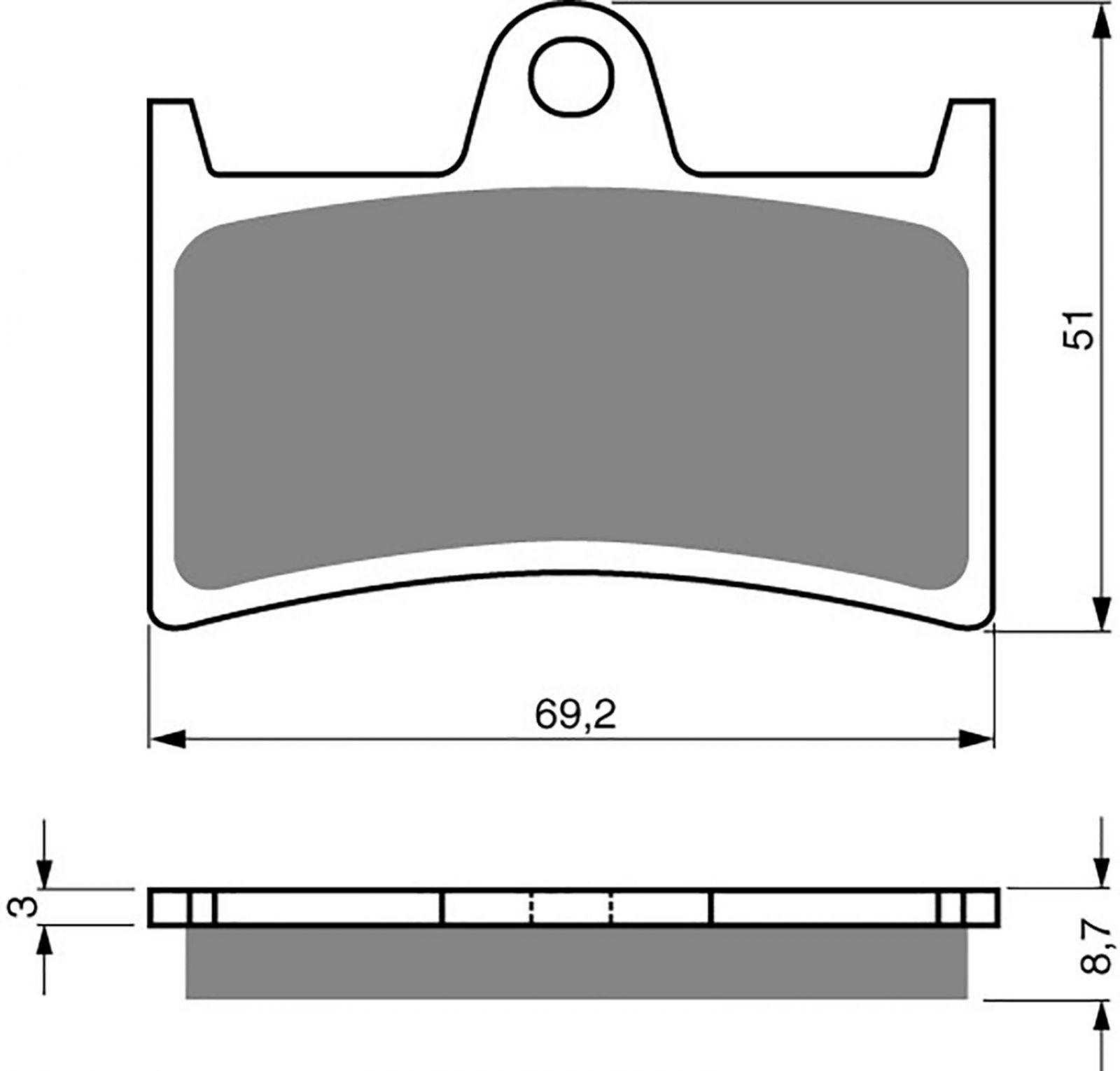 Goldfren S33-070 Brake Pads