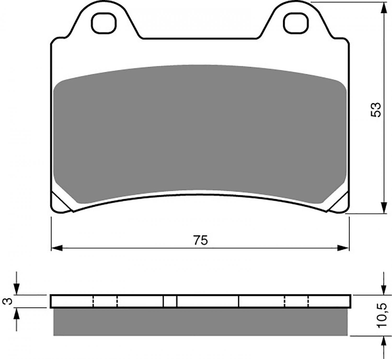 Goldfren GP5 Brake Pads - 700073GG image