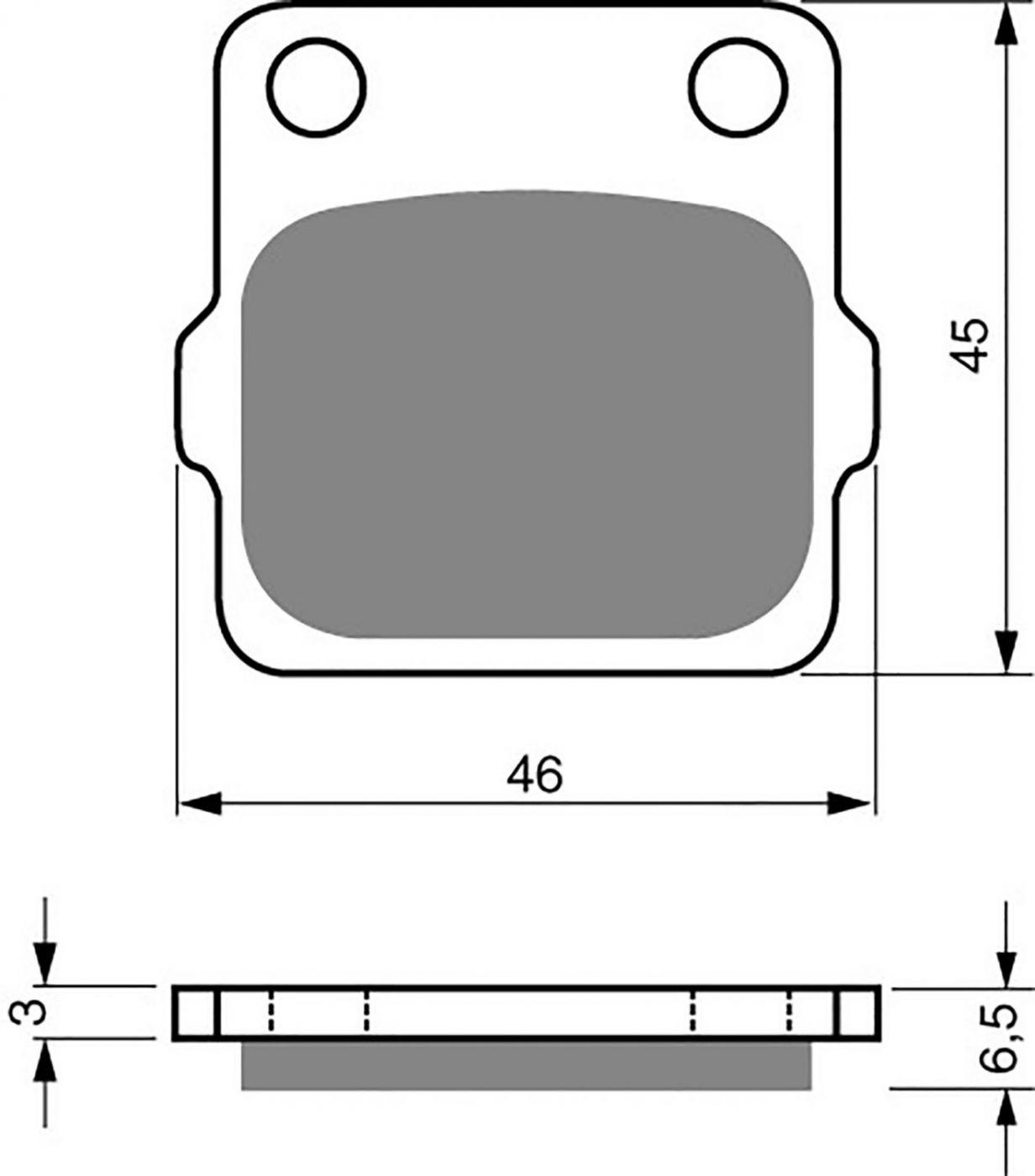 Goldfren K5 Brake Pads - 700077GK image