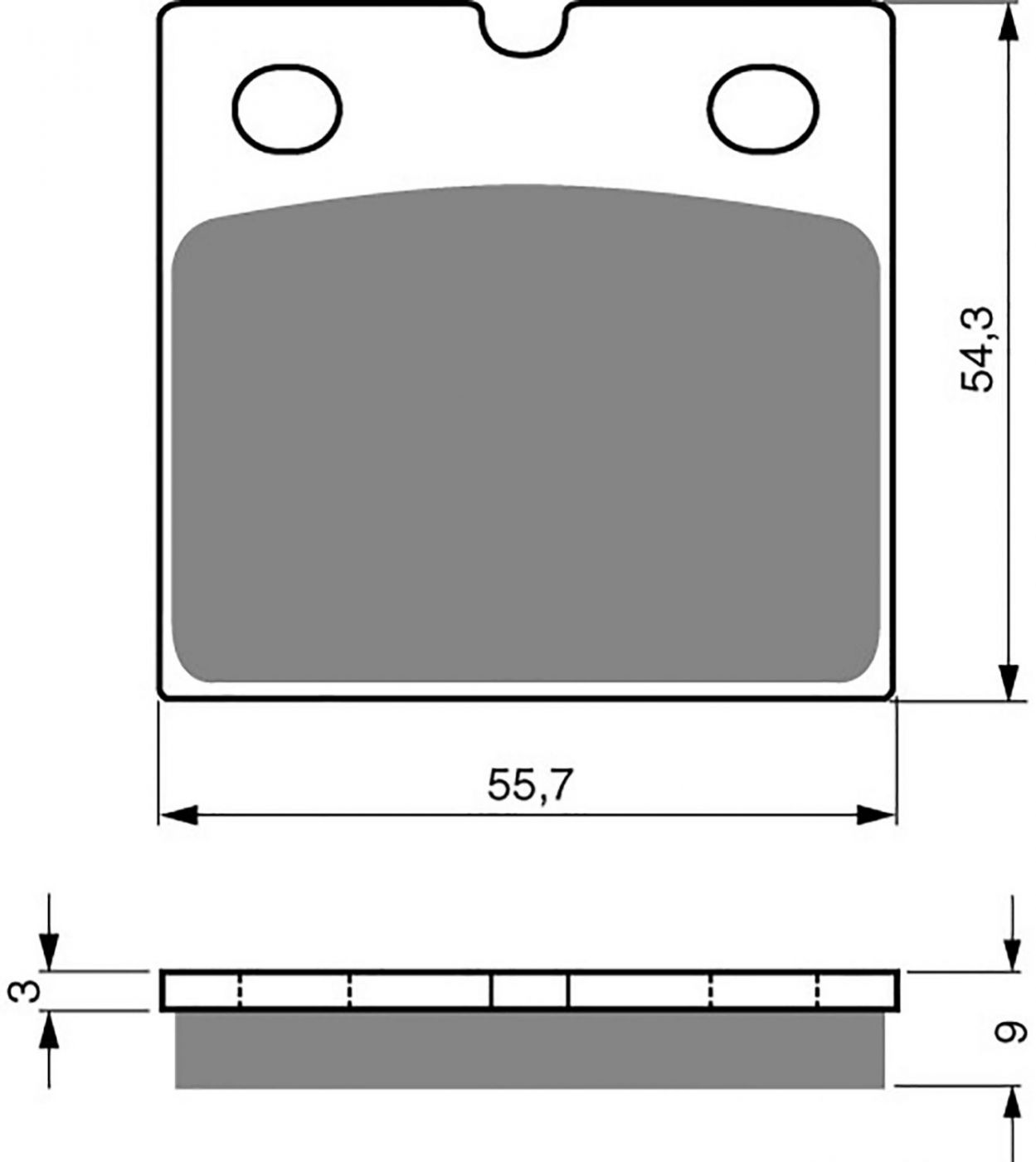 Goldfren GP5 Brake Pads - 700081GG image