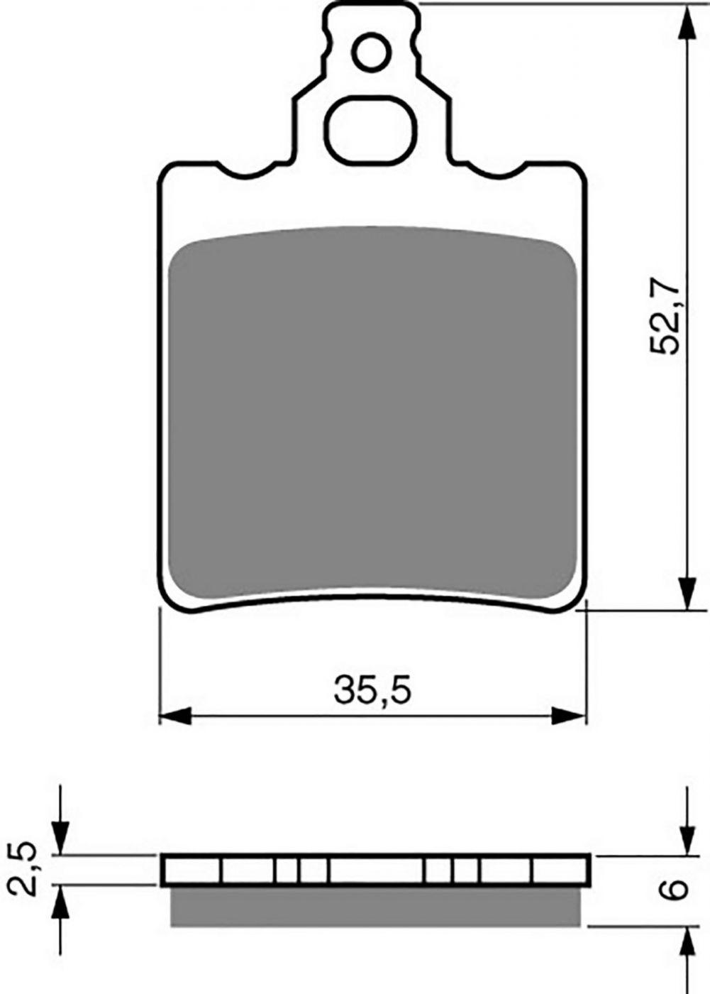 Goldfren K5 Brake Pads - 700096GK image