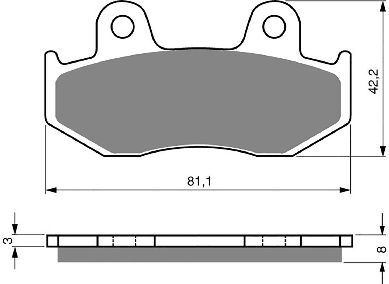 Goldfren K5 Brake Pads - 700102GK image