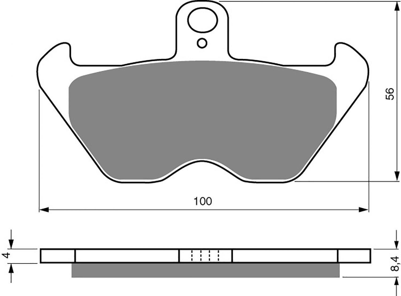 Goldfren GP5 Brake Pads - 700117GG image