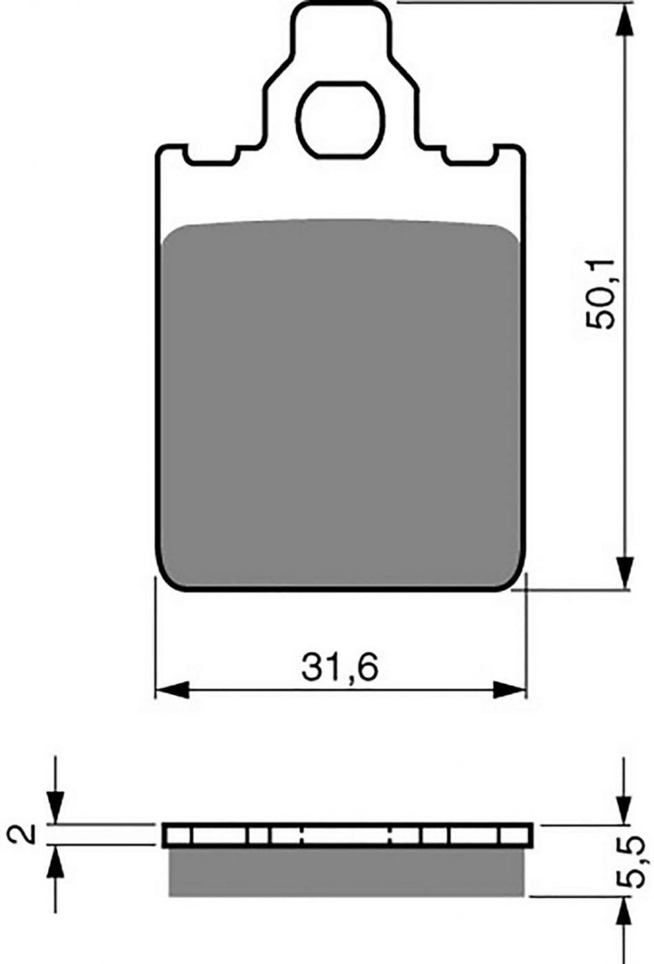Goldfren GP5 Brake Pads - 700118GG image