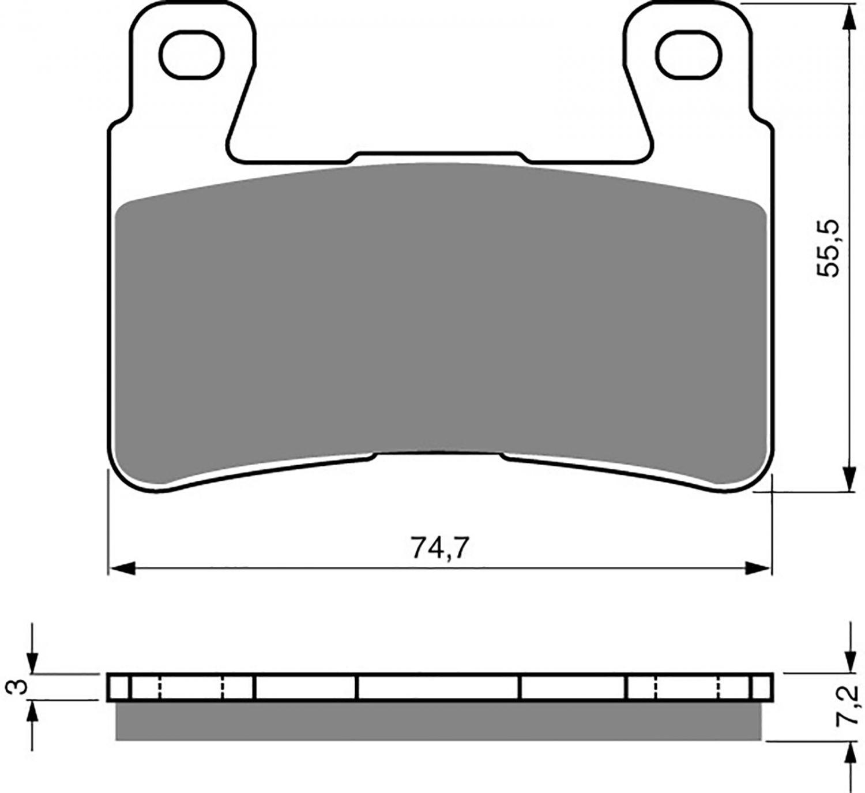 Goldfren GP5 Brake Pads - 700134GG image