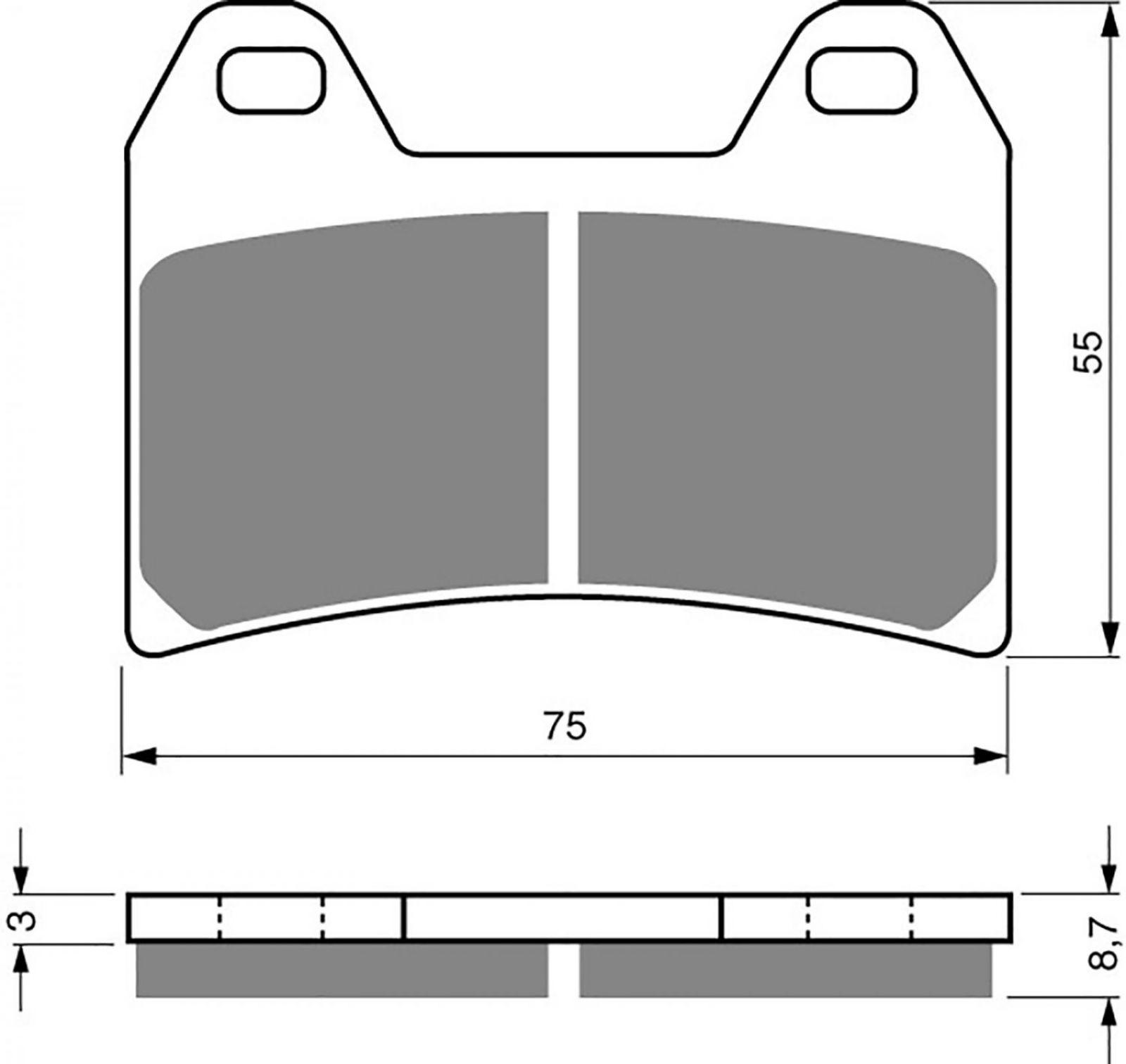 Goldfren GP5 Brake Pads - 700141GG image