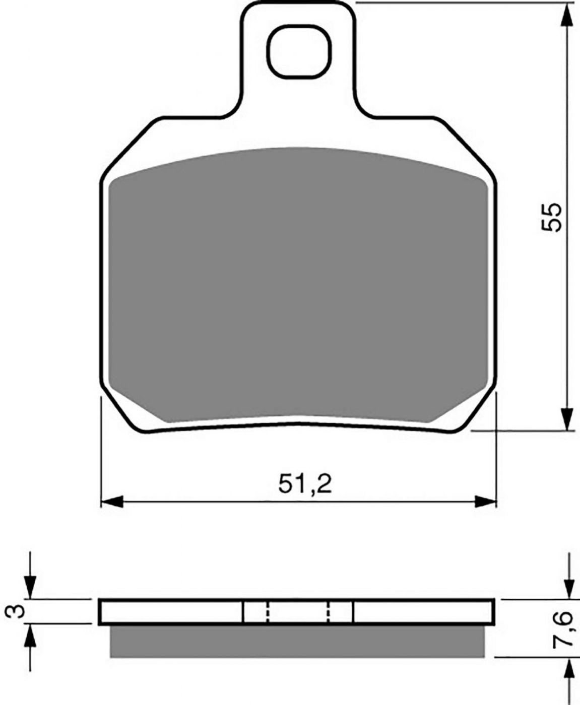 Goldfren GP5 Brake Pads - 700152GG image