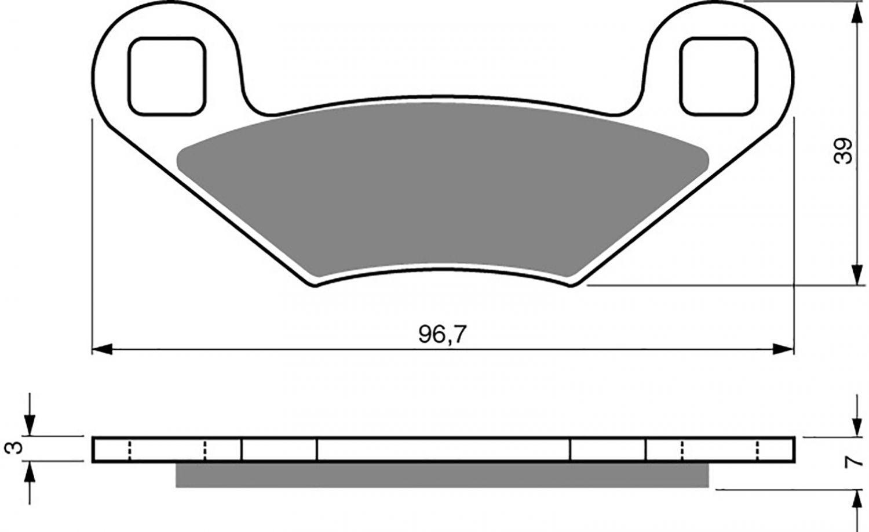 Goldfren K5 Brake Pads - 700162GK image