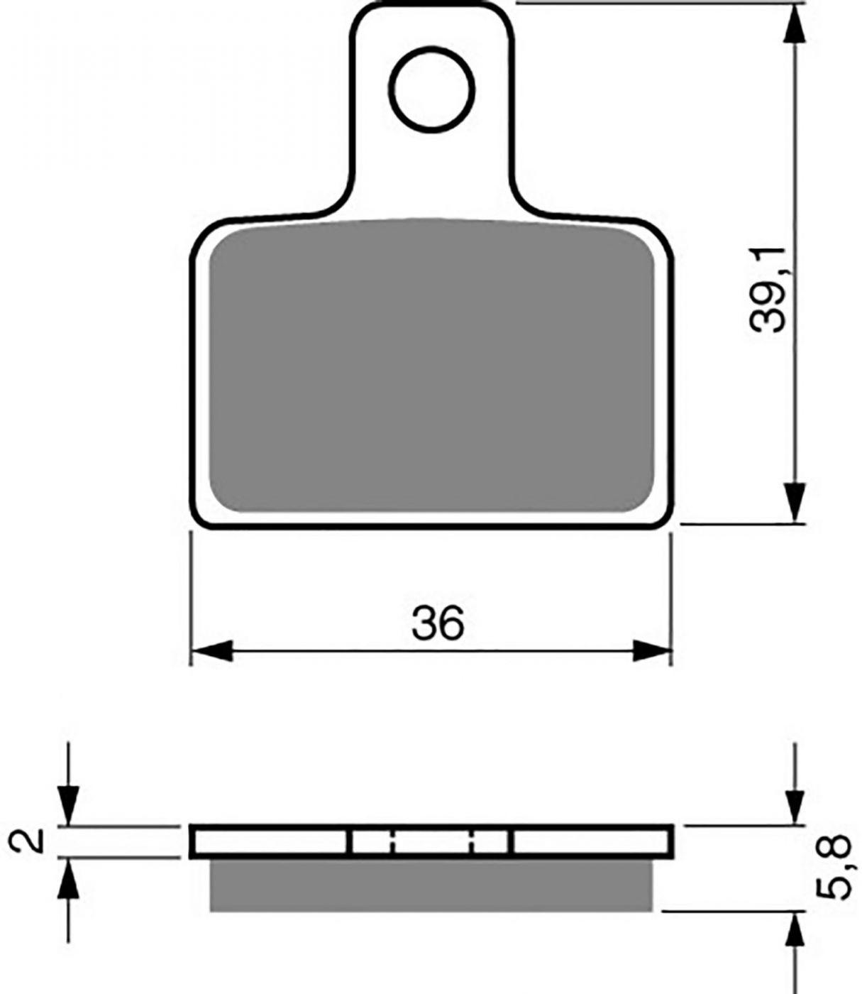 Goldfren K5 Brake Pads - 700173GK image