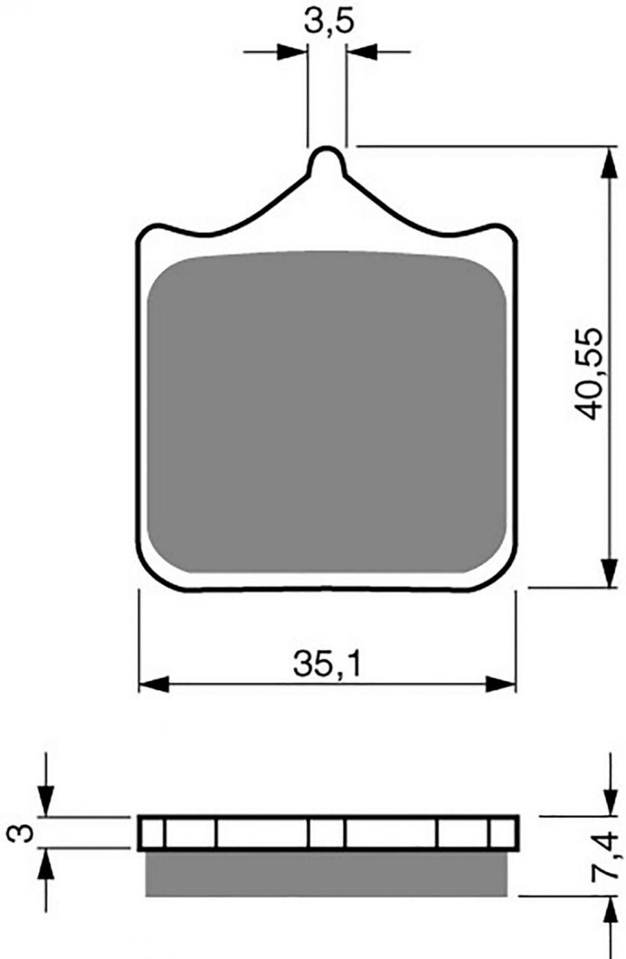 Goldfren GP5 Brake Pads - 700177GG image