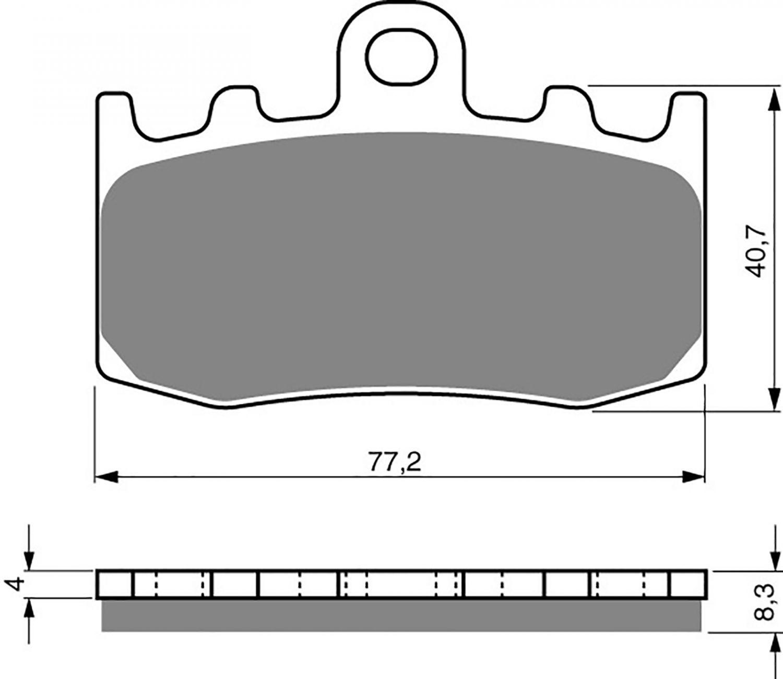 Goldfren GP5 Brake Pads - 700196GG image
