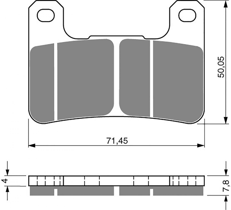 Goldfren GP5 Brake Pads - 700213GG image