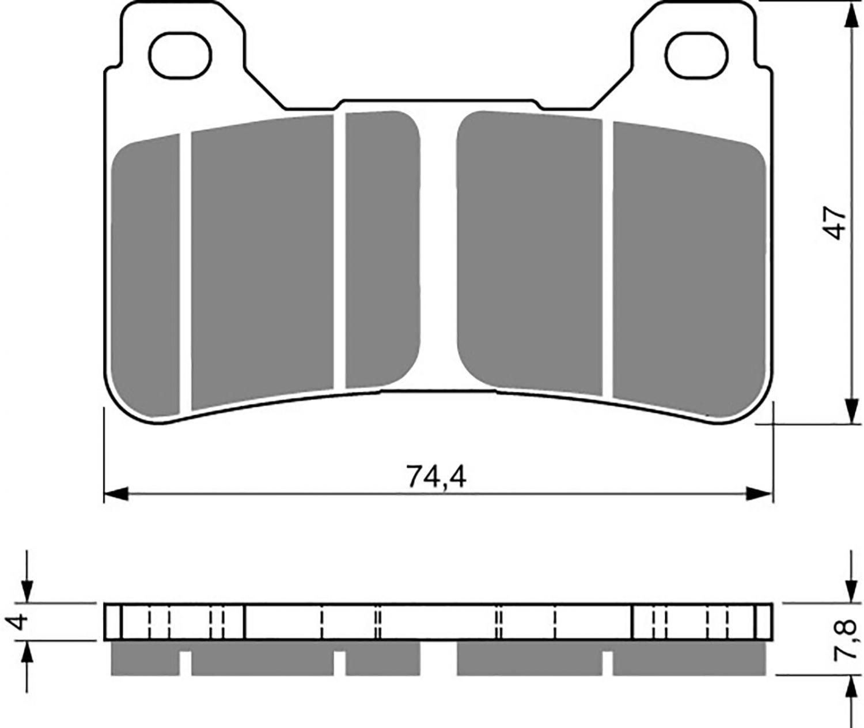 Goldfren GP5 Brake Pads - 700214GG image