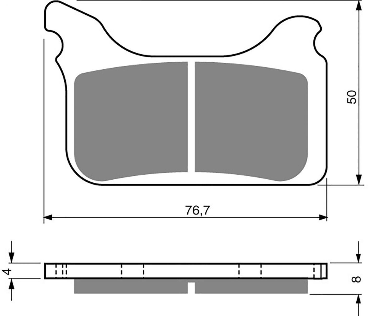 Goldfren GP5 Brake Pads - 700231GG image
