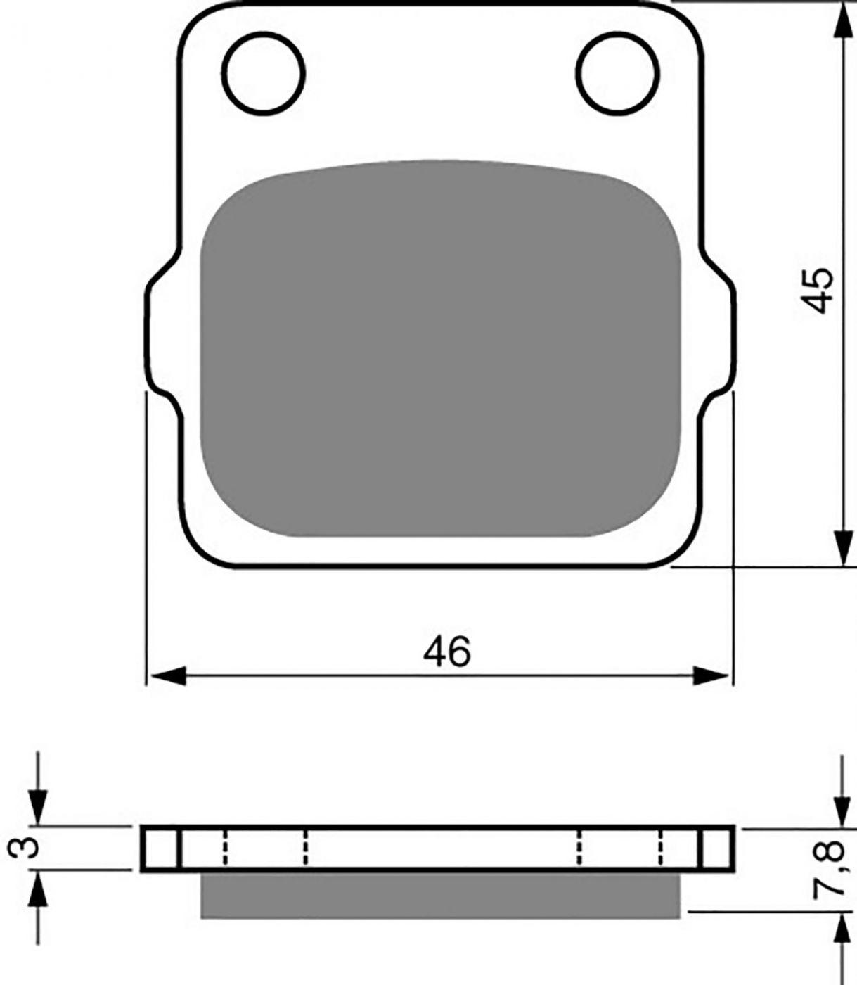 Goldfren K1 Pads (Sand & Mud) - 700007GO image