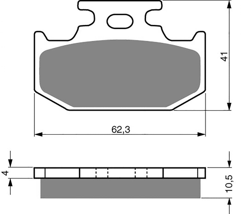 Goldfren K1 Pads (Sand & Mud) - 700100GO image