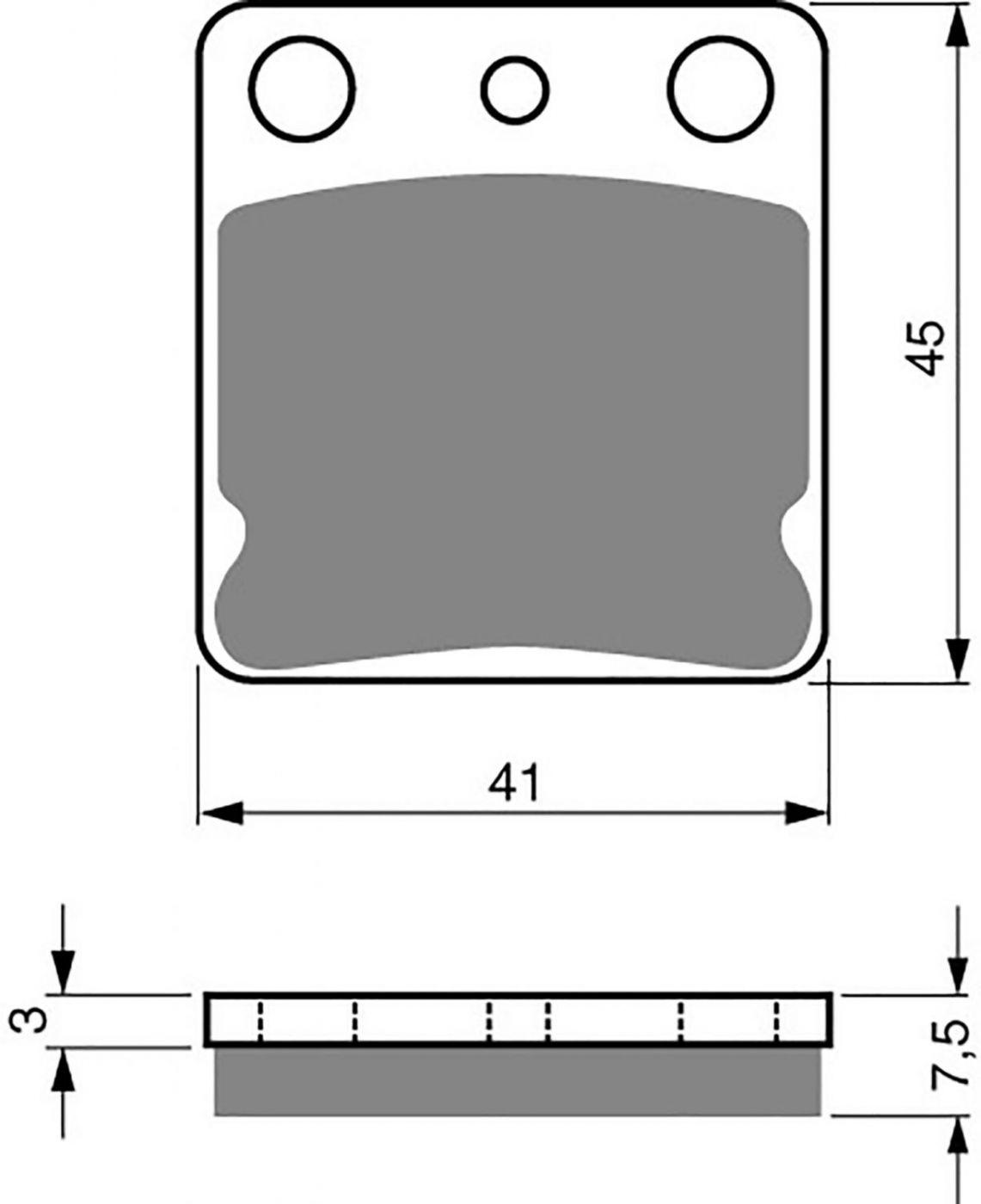 Goldfren K1 Pads (Sand & Mud) - 700144GO image