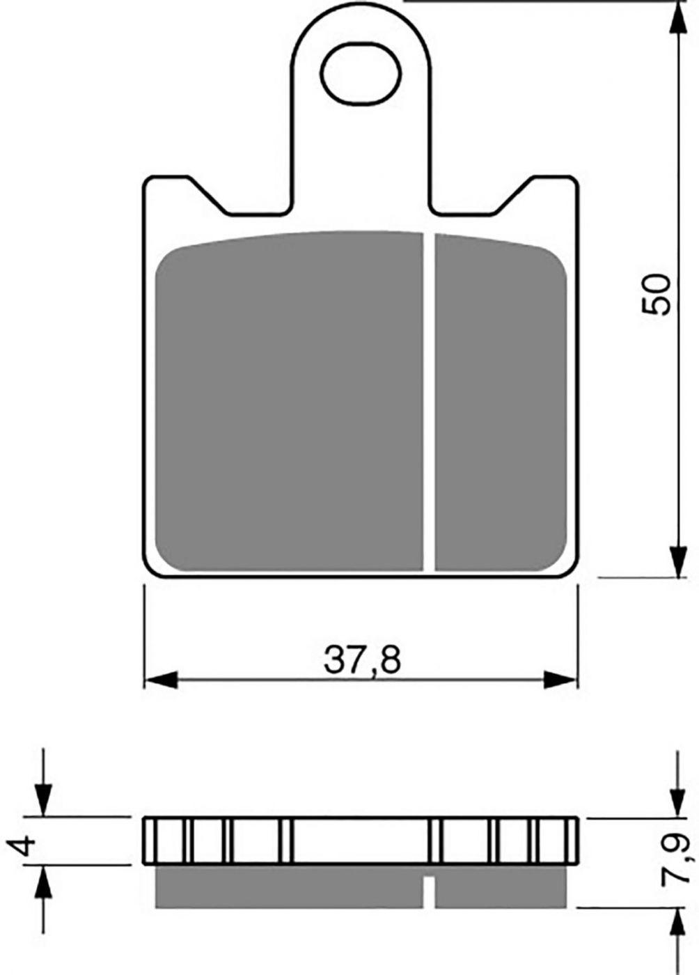 Goldfren GPR Brake Pads - 700249GR image