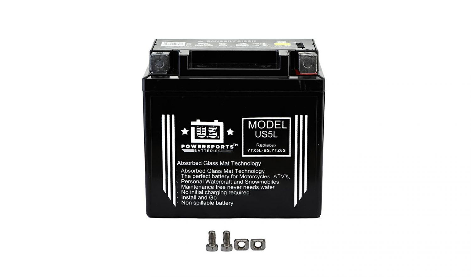 US Powersports Sealed Battery - 501055U image