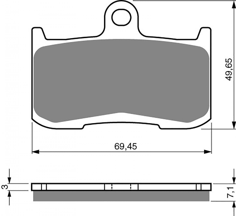 Goldfren GP5 Brake Pads - 700207GX image